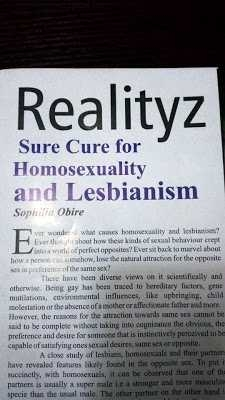 Homosexuality and lesbianism can be 'cured' , Nigerian magazine claims